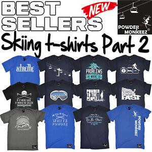 Ski Skiing Skis Christmas Present Funny Printed T Shirt Evolution