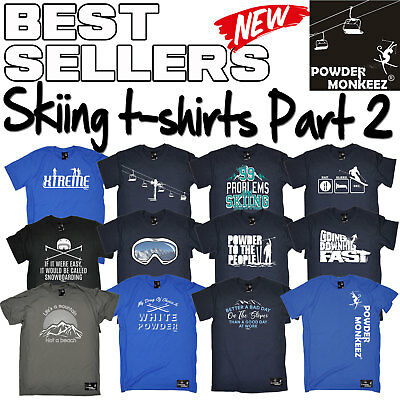 Powder Monkeez Vertical WOMENS T-SHIRT winter skiing gift tee birthday gift top