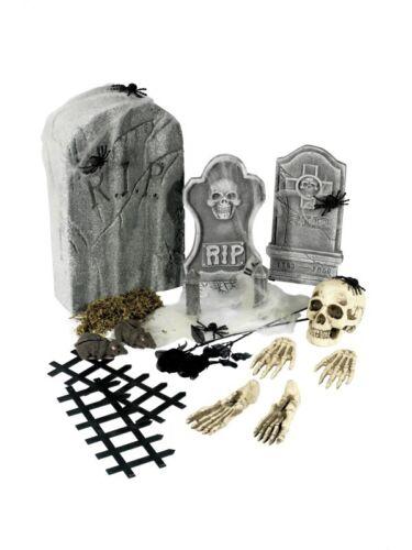 24 Pièce cimetière collection adulte unisexe Smiffys Déguisement décorations