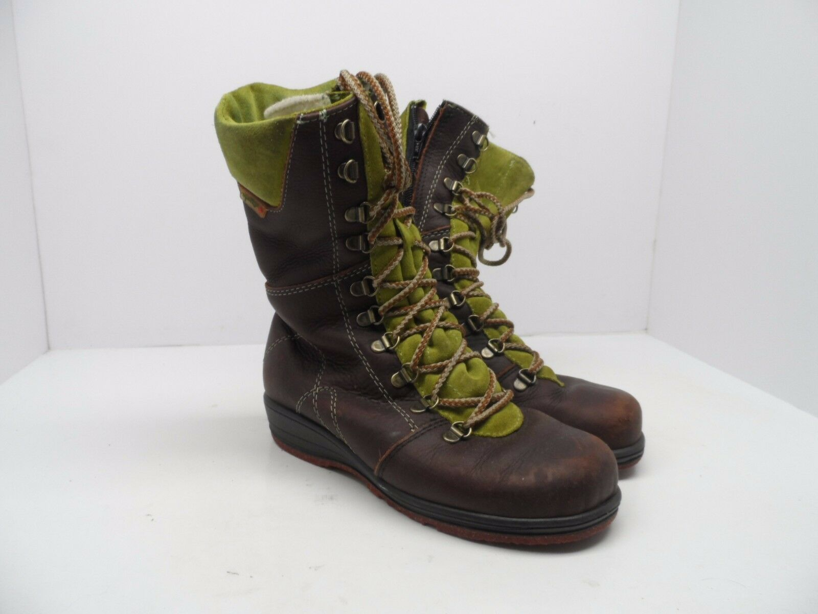 Martino Women's Banff Waterproof Boot Leather Suede Brown Green Size 6W