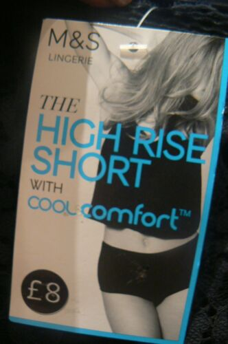 M/&S High Rise Short Cool Comfort Knickers UK Size 6 Size 26 NEW TAGS £8