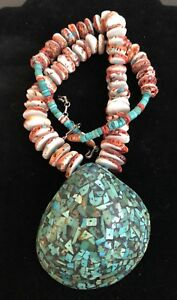 Pueblo-Inlaid-Shell-And-Heishi-Necklace-180-Gr