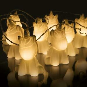 Image Is Loading Led 10 Unicorn Fairy String Lights Cute Battery