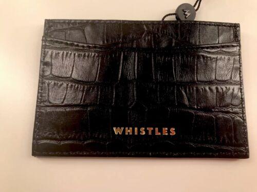 Nuevo Travel Croc Portatarjetas Shiny Black Unisex Wallet Whistles x7qawFCAx