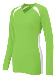 Augusta Sportswear Women/'s Fit V Neck Long Sleeve Dig Sports T-Shirt 1325