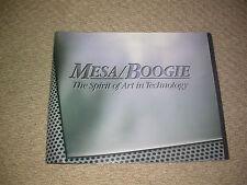 MESA BOOGIE amplificatori 1995 catalogo CHITARRA da collezione Studio personalizzati Uomo Stanza Display