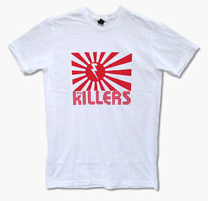 Killers-Rising-Sun-White-T-Shirt-New-Official-Rock-Band-Music