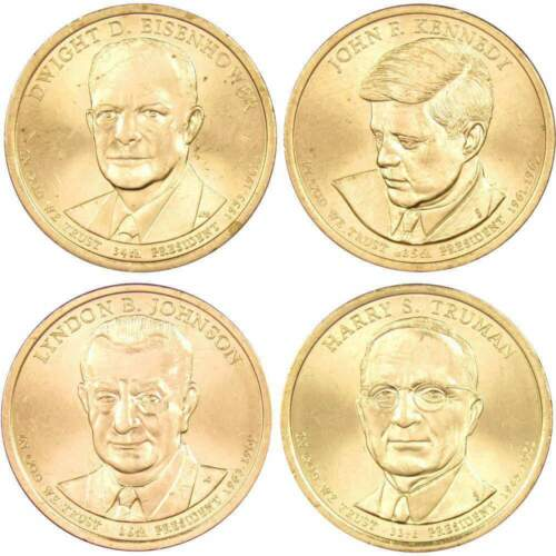 2015-P $1 Presidential Dollar 4-Coin Set Uncirculated Mint State