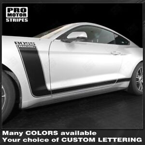 Ford-Mustang-2015-2019-BOSS-302-Style-Side-Stripes-Decals-Choose-Color