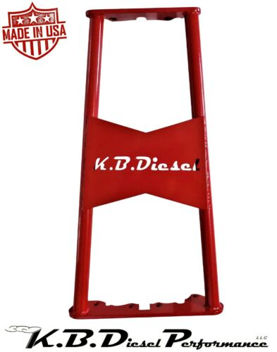 Red KBDP ZF6 Transmission Brace 2001-2006 Chevy GMC 6.6l Duramax LB7 LLY LBZ