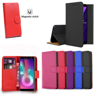 Case For Huawei Y6 2018 Phone Luxury Leather Magnetic Flip Wallet Stand Cover Cell Phone Accessories