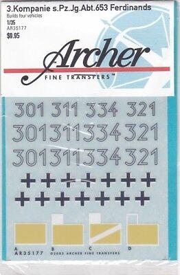 Strong-Willed Archer Fine Tranfers Ar35177-3 Kompanie S.pz.jg.abt.653 Ferdinands 1/35 Stickers, Decals & Iron-ons Diecast & Toy Vehicles