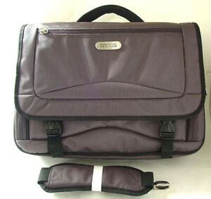 KENNETH-COLE-Briefcase-Gray-Nylon-Laptop-Sleeve-Computer-Bag-Case-NEW-NWT