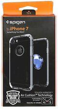 Spigen Jet Black Case for iPhone 7 Tough Armor TPU Cover Protective 2 Layer