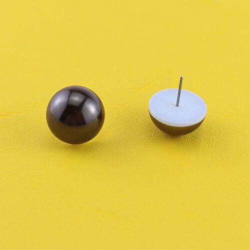 Boucles d/'Oreilles Clous Puces Demi Perle Marron Simple Retro NN5