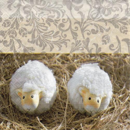 4 motif serviettes serviettes des nappes tovaglioli agneau osterlamm agneau 746