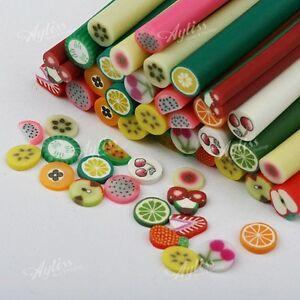 10xClay-Fimo-Stick-Nail-Art-3D-Rod-Fruit-Tip-Decoration