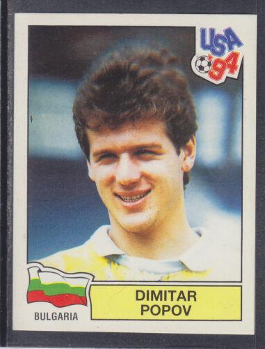 USA 94 World Cup Bulgaria Panini # 285 Dimitar Popov Green Back