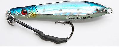 "5 1//4oz gypsy lures saltwater butterfly jig 150 grams 5/"" blue mackerel"