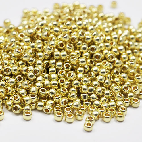 11//0 Toho Round Glass Seed Beads Metallic Galvanized Permanent Finish 10g