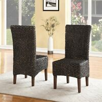 Modus Furniture 3f4166 Meadow Wicker Dining Chair (set Of 2)