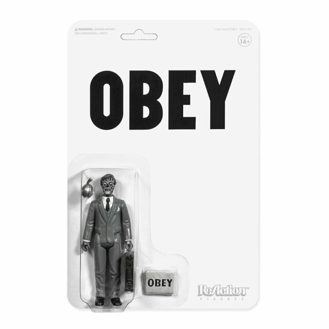 Super7 They Live ReAction Figure - Male Ghoul (Black & White)