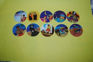 060 Pogs Pog Caps Milkcaps Flippo : Lot De 10 Skippies