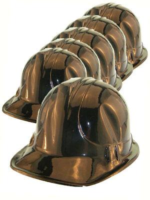 UnermüDlich 6x Bauarbeiter Helm Bauhelm Schwarz Partyhelm Karneval Auf Der Ganzen Welt Verteilt Werden