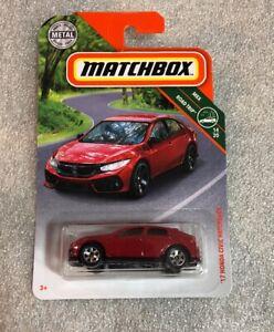 MATCHBOX 2018 METAL MBX ROAD TRIP /'17 HONDA CIVIC HATCHBACK RED