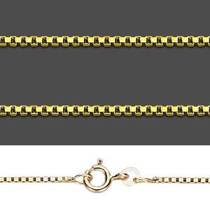 Juwelier Venezia Kette Venezianer Stärke 1,2 mm aus Echt Gold 333 Gelbgold 8 Kt