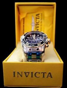 Blue Dial Watch Pro Details Ss Men's About Invicta 80041 Diver Chronograph F1ulJKc3T5
