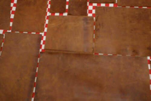 THIN LIGHT NUT BROWN 3 oz SELECT SIZE. SUPER NICE QUALITY HORSE LEATHER CUTS
