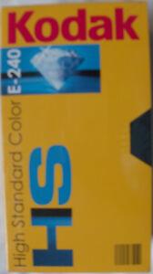 2-Stueck-Kodak-HS-Videokassetten-Leerkassetten-E-240-N-E-U-O-V-P