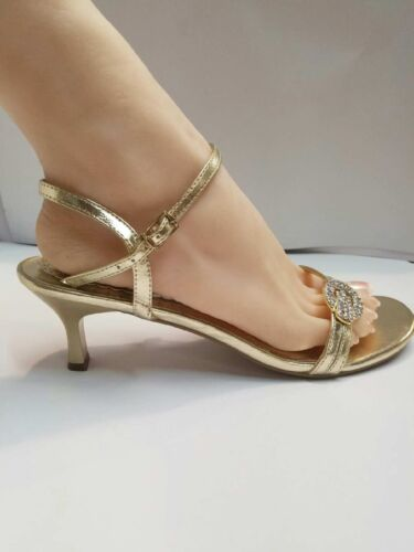 STRAP OPEN TOE WITH BUCKLE STONE PROM WEDDING HEELS #CRISS-1