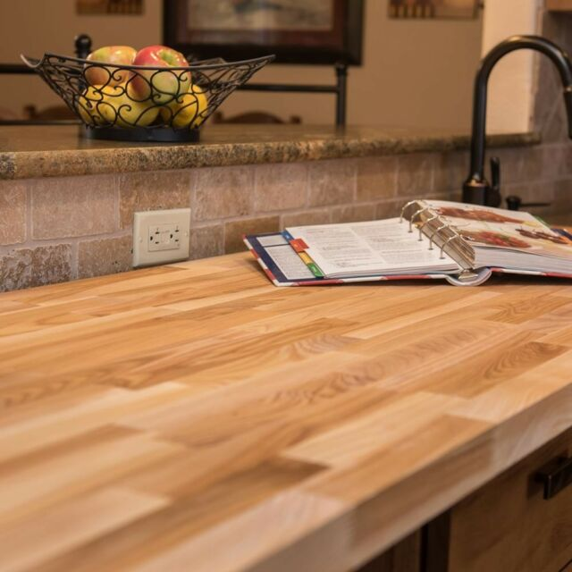 Butcher Block Countertop Unfinished Ash 4 Ft. 2 In. X 2 Ft