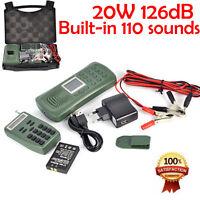 20w 120db Mp3 Player Speaker Hunting Bird Decoy Bird Caller 1800mah 110 Sounds+