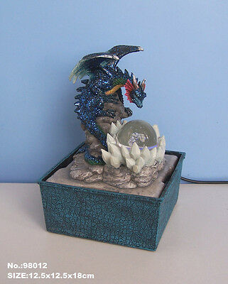 Dragon with spinning light ball style Tabletop or Desktop water fountain