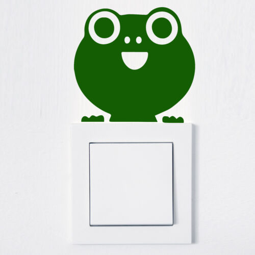 Wandtattoo Aufkleber für Lichtschalter oder Steckdose Frosch Sticker Auto Tier