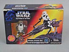Vintage Star Wars IMPERIAL SPEEDER BIKE w/ BIKER SCOUT Figure #rk1-3