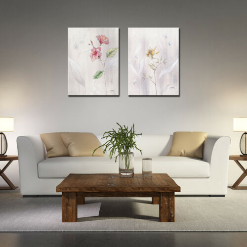 Photo Canvas Prints Flower Paintings Modern Wall Art For Home Room-2pcs