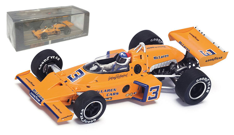 Spark 43IN74 McLaren M16C Winner Indy 500 1974 - Johnny Rutherford 1 43 Scale