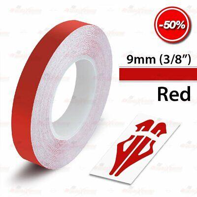 "RED 25mm 1/"" Roll Pin Stripe PinStriping Solid Trim Line Tape Vinyl Car STICKER"