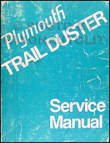 1974 Plymouth Trail Duster Shop Manual Repair Service Base Book for 1975-1976