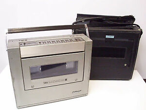 Vintage-National-NV-300-VCR-Video-Player-Recorder-with-Case-Japan-As-Is