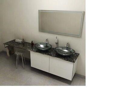 Möbel & Wohnen Badmöbelsets Streng Badezimmerarbeitsplatte 130x2x50cm Technischer Marmor Grigio Carnico Diversifizierte Neueste Designs