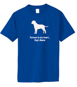 Bullmastiff Dog Forever in my heart w/ Name T-shirt Choice size color ©