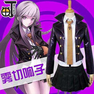Danganronpa Cosplay Kyoko Kirigiri Complete Costume Coat Skrit Shirt Gloves Tie