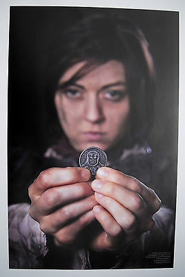 Arya Stark poster, Iron coin of the Faceless Man, A Game of Thrones, Morghulis