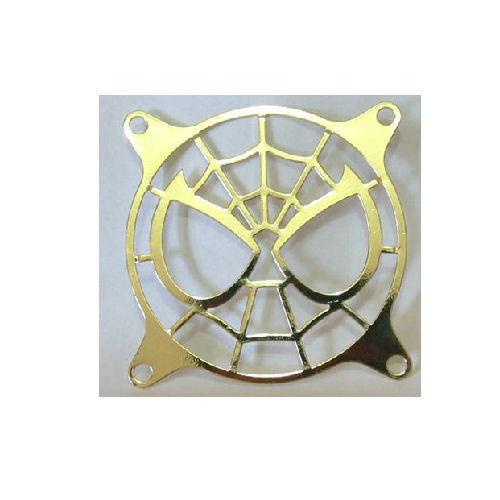 Gold 80mm Laser cut Chrome Steel Spiderman Fan Grill