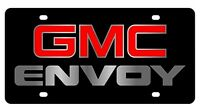 Gmc Envoy Red Logo Acrylic License Plate